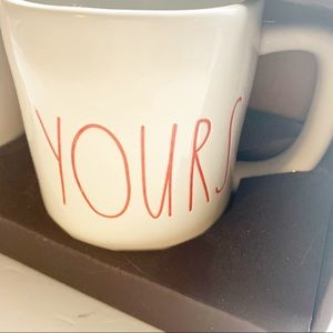 Rae Dunn Dining - Rae Dunn l Mine and Yours Pink Writing Coffee Mugs